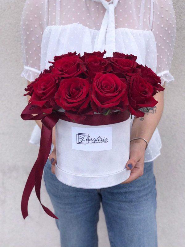 Бокс з 17 еквадорських червоних троянд
