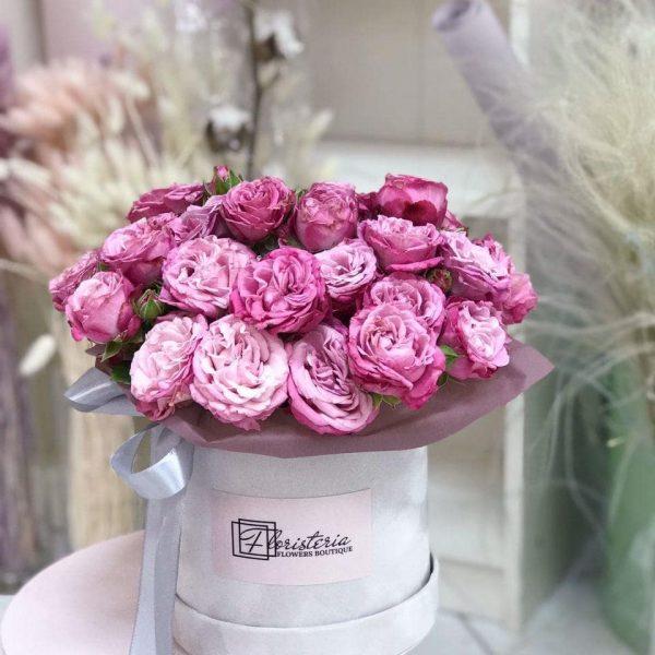 Велюровий бокс з кущової троянди