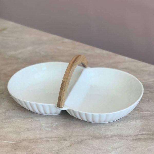 Фарфорова подвійна посудина